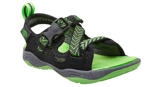 Keen Rock Iguana Sandals Youth black/jasmine green